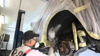 preview picture of video 'Pajero IV lakierowanie podwozia'