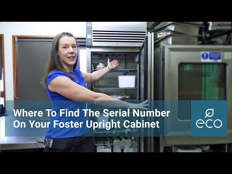 Where To Find The Serial Number On Your Foster Upright Cabinet