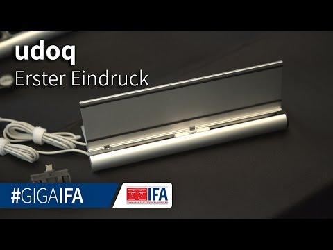 udoq im Hands-On: Universelles Lade-Dock für Handys- und Tablets angeschaut - IFA 2016 - GIGA.DE