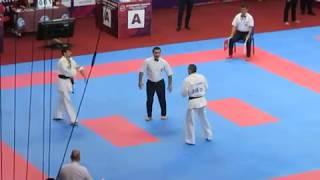 Нокаут в чемпионате мира по киокусинкай карате г. Екатеринбург
