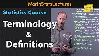 Statistics Terminology and Definitions  Statistics Tutorial   MarinStatsLectures