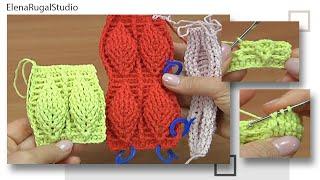 Crochet Leaf Stitch Pattern Tutorial 5