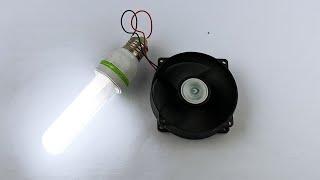 Powerful Free Energy Generator Fan With Light Bulb 220V