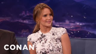 Jennifer Lawrence's Abercrombie & Fitch Modeling Career Was Short-Lived | CONAN on TBS