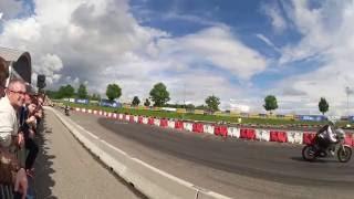 Klassikwelt Bodensee 2016 Motorrad Vorführung - Wheelies - CBX Sound - Sturz