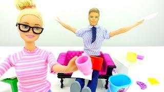 Барби. Игры для девочек. У куклы Барби сложный день