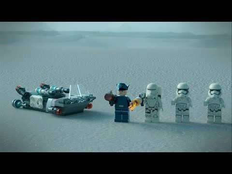 Vidéo LEGO Star Wars 75166 : Pack de combat le Speeder de transport du Premier Ordre