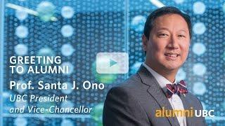 Prof. Santa J. Ono - Video Message to Alumni