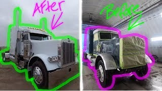 379 Peterbilt Restoration Project - Fast Forward Recap ( McDonald Chrome Shop )