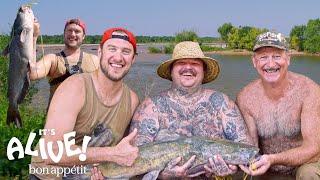 Brad and Matty Matheson Go Noodling for Catfish Part 1   It's Alive   Bon Appétit
