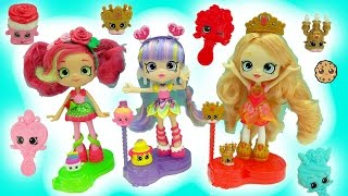 Shopkins Season 7 Shoppies Tiara Sparkles, Rainbow Kate, Rosie Bloom Join The Party Dolls