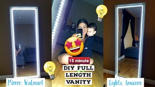 Affordable Full Length Vanity Mirror | Quick, Easy, & Cheap!