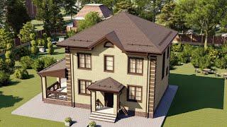 Проект дома 116-G, Площадь дома: 116 м2, Размер дома:  9,6x9,6 м