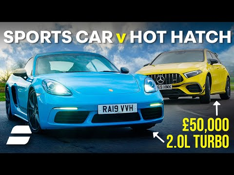 Mercedes A45S vs Porsche Cayman T: The £50,000 Question | 4K