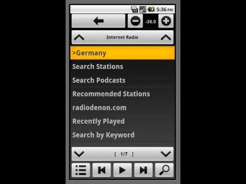Video of AVR-Remote for Denon/Marantz