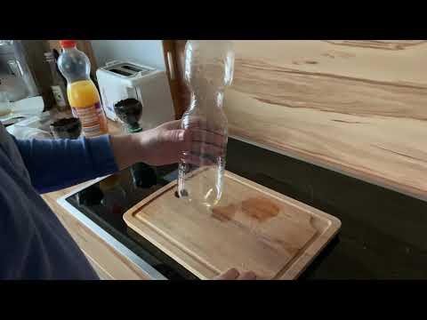 Anzuchttöpfe mit Bewässerungssystem aus PET-Flaschen basteln DIY