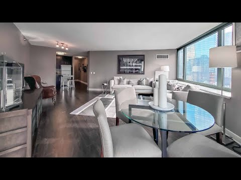 A -10 one-bedroom model in Streeterville at Cityfront Place