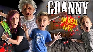 Granny Horror Game In Real Life! FUNhouse Family (Spider and Playhouse Update)