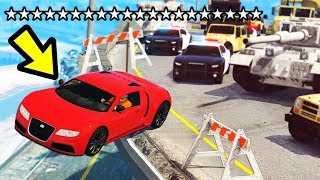 GTA 5 - 20 STAR WANTED LEVEL!! (Can We Lose It?)