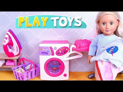 Play OG Baby Dolls and Laundry Washing Machine Toys!