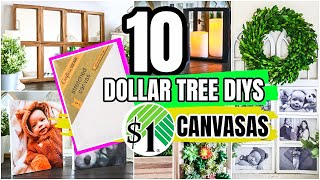 HIGH-END DOLLAR TREE CANVAS HACKS & DIYS┃ YOU WON'T BELIEVE WHAT YOU CAN MAKE FOR $1
