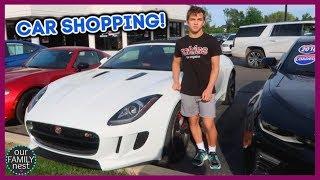 CAR SHOPPING! HIS FIRST CAR AT 16!