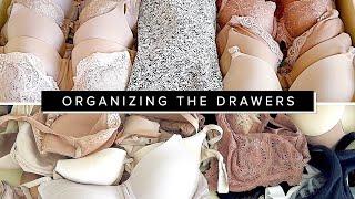 Organizing my Clothing Drawers | marie kondo method organizing dresser drawers hacks | Miss Louie