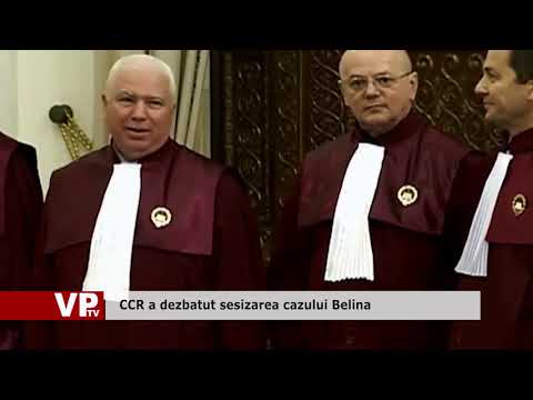 CCR a dezbatut sesizarea cazului Belina
