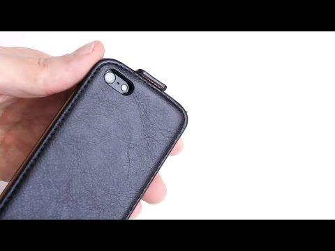 Review: mumbi Echt Leder Flip Case iPhone 5 Tasche - Handytasche/ Hülle im Test