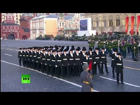 Реконструкция военного парада 1941 года на Красной площади видео