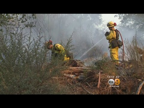 Crews Battle To Contain Thomas Fire In Santa Barbara County