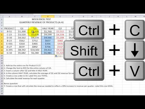 How to Pass an Excel Test - YouTube