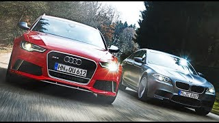 BMW E39 M5 vs Audi S6 V10 on the road