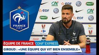 """Équipe de France, """"Conf' Express"""" avec Corentin Tolisso, Lucas Hernandez et Olivier Giroud"""