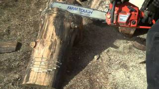 How To Cut And Shape Log Benches By Mitchell Dillman