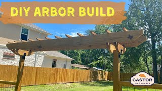 How To Build A DIY Arbor For Your Fence Gate!