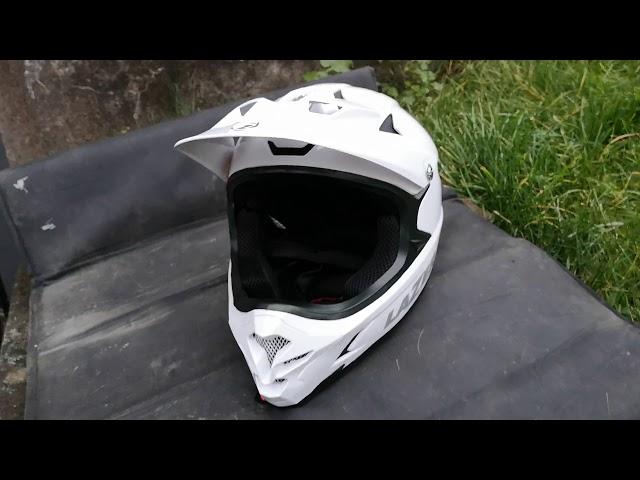 """Видео Шлем Lazer Phoenix+ 2020 серо-бирюзовый """"в треугольники"""""""