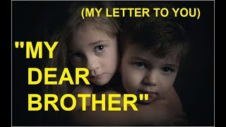 DEAR BROTHER POEM |BEST LOVE POEMS & INSPIRATIONAL QUOTES ABOUT BROTHER