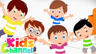 Five Little Monkeys Jumping On The Bed | Nursery Rhymes And Kids Songs - Kids Channel