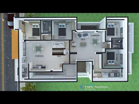 Diseño moderno edificio de apartamentos en tres pisos | Arquitecto Pablo Restrepo