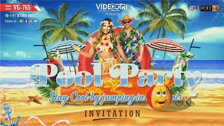 Pool Party Invitation for Wedding | VG-765