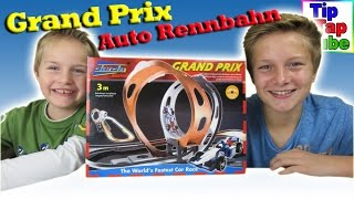 Darda Grand Prix Autorennbahn Spielzeug auspacken und spielen mit Ash und Max Kanal für Kinderkanal