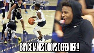 Bryce James DROPS DEFENDER In Front Of Bronny James & Gilbert Arenas!