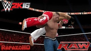 WWE 2K16 Simulation: Rey Mysterio vs John Cena - RAW 25/07/11 Highlights