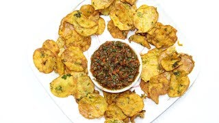Maru Bhajias with Chutney - Crispy Kenyan Potato Thins Air Fryer Video Recipe | Bhavna's Kitchen