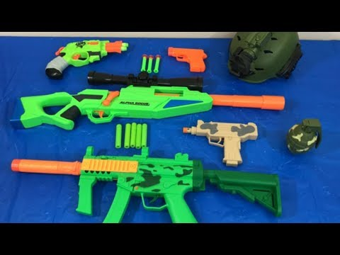 Box Of Toys Toy Gun Nerf Gun Pistol Military Weapons Mp3
