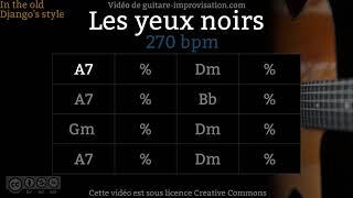 Les Yeux Noirs - Dark Eyes (270 Bpm) - Gypsy Jazz Backing Track / Jazz Manouche