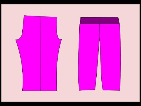 Patronaje  Pantalón pijama para mujer. Free Patterns pajama pants for woman