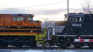 Farewell PW 4302. Chasing CN 324 & 323 With PW 4302 in tow!