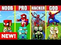 Minecraft Battle SPIDERMAN HOUSE BUILD